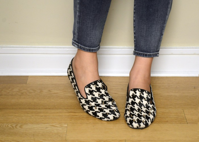 houndstooth loafers